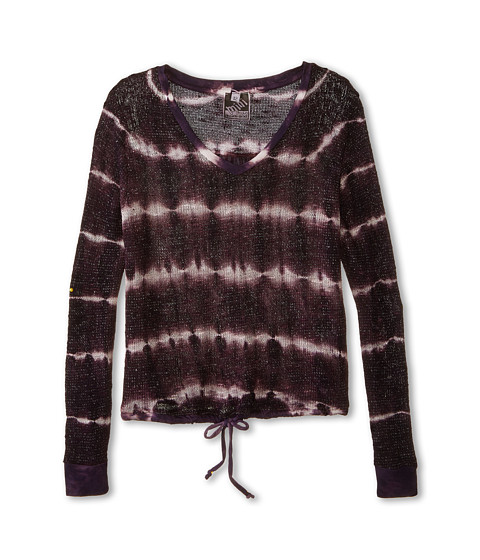 Young Fabulous & Broke Mini - Tumbleweed Sweater Skinny Stripe (Little Kids/Big Kids) (Plum) Girl's Sweater