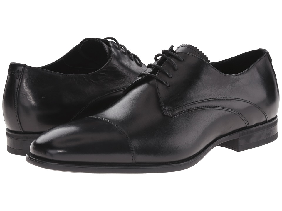 Aquatalia - Abe (Black Dress Calf) Men's Lace Up Cap Toe Shoes