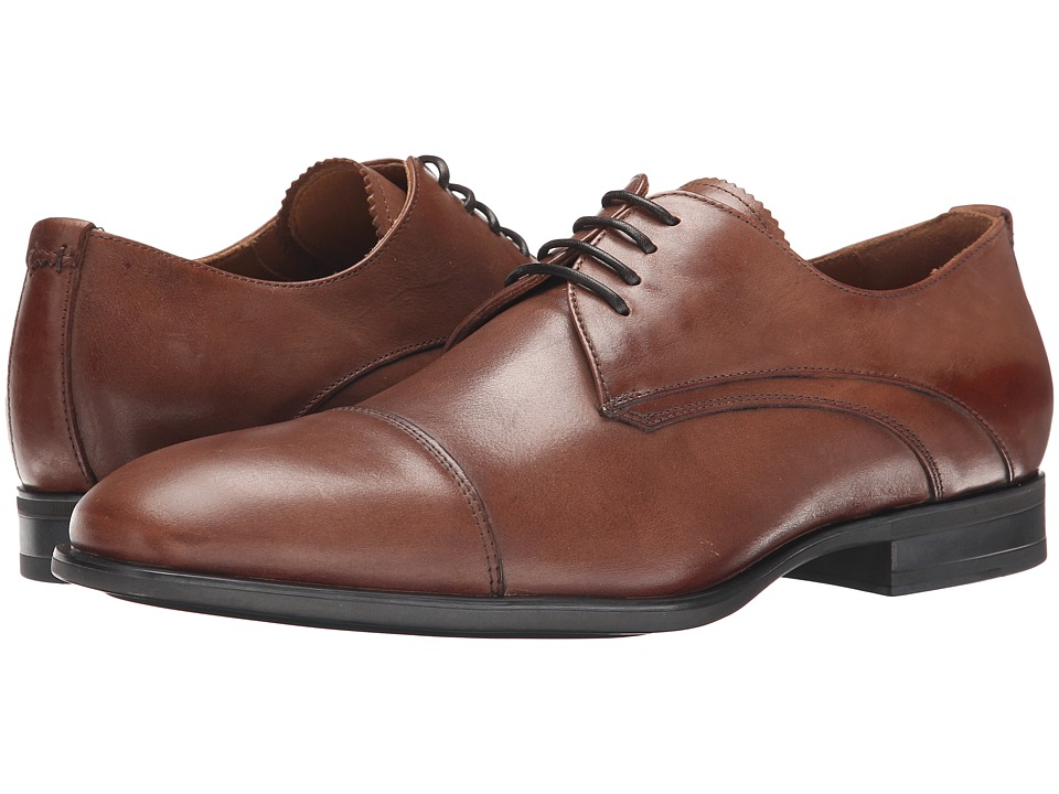 Aquatalia - Abe (Nut Dress Calf) Men's Lace Up Cap Toe Shoes