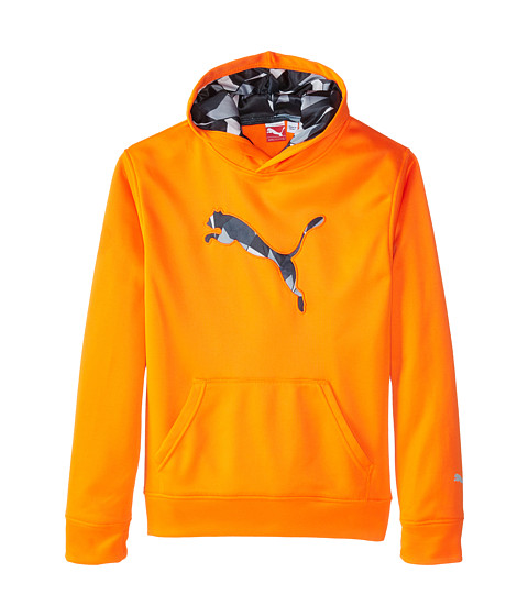 Puma Kids - Big Cat Hoodie (Big Kids) (Fire Orange) Boy