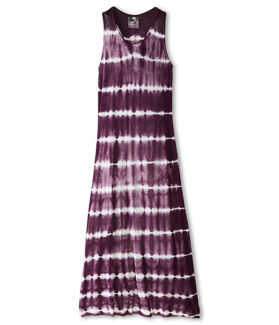 Young Fabulous & Broke Mini - Blaire Maxi Skinny Stripe (Little Kids/Big Kids) (Plum) Girl's Dress