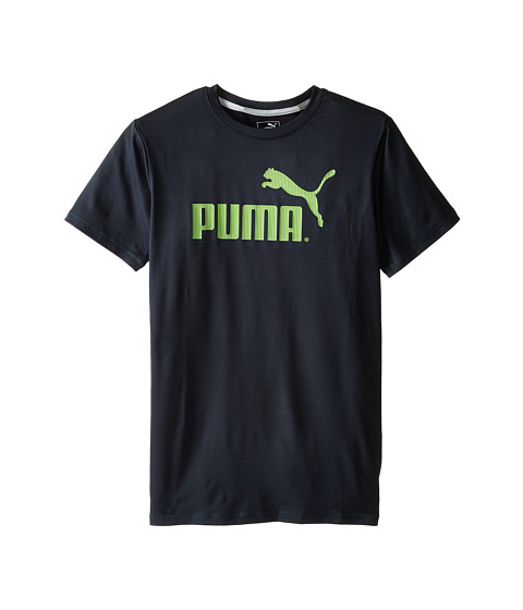 Puma Kids - No.1 Logo Tee (Big Kids) (Charcoal) Boy's T Shirt