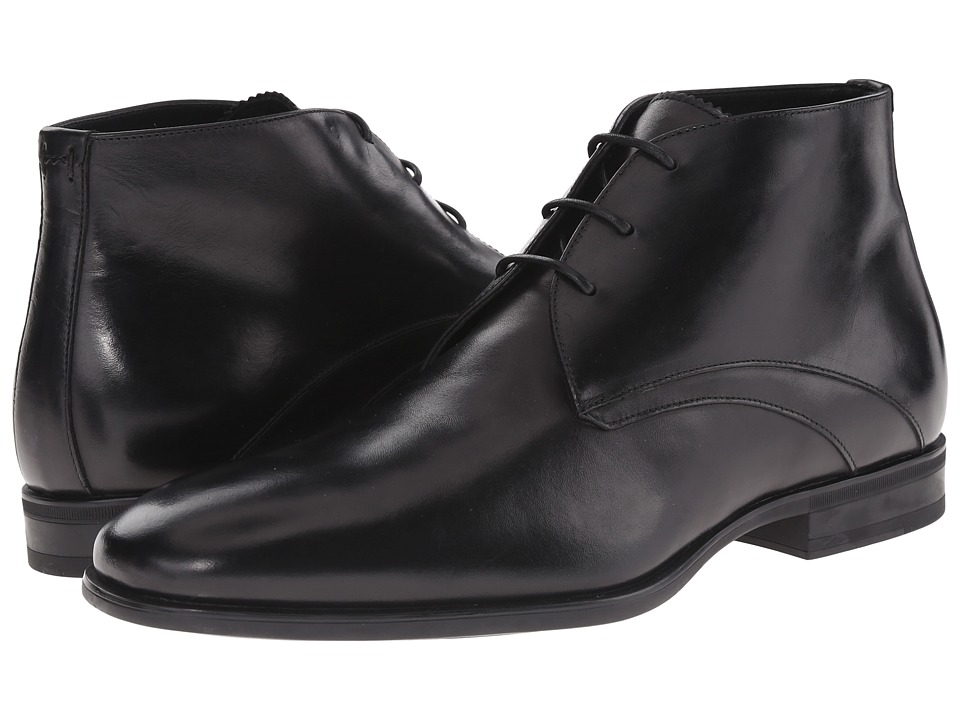 Aquatalia - Ace (Black Dress Calf) Men's Dress Lace-up Boots