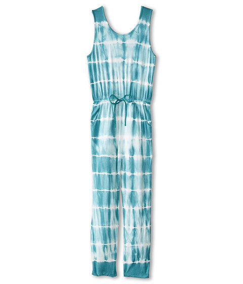 Young Fabulous & Broke Mini - Gracie Jumpsuit Skinny Stripe (Little Kids/Big Kids) (Teal) Girl's Jumpsuit & Rompers One Piece