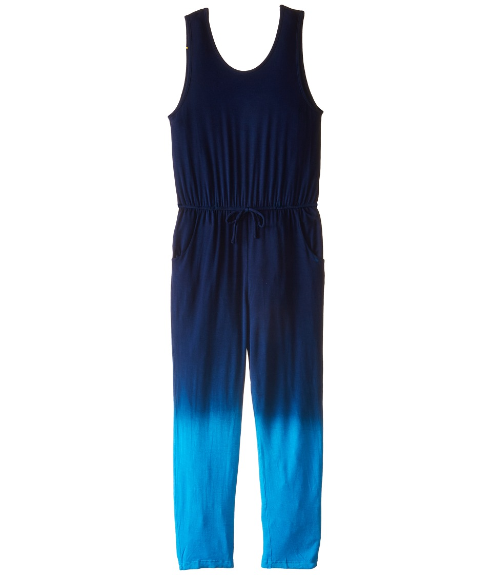Young Fabulous & Broke Mini - Gracie Jumpsuit Ombre (Little Kids/Big Kids) (Blue) Girl's Jumpsuit & Rompers One Piece