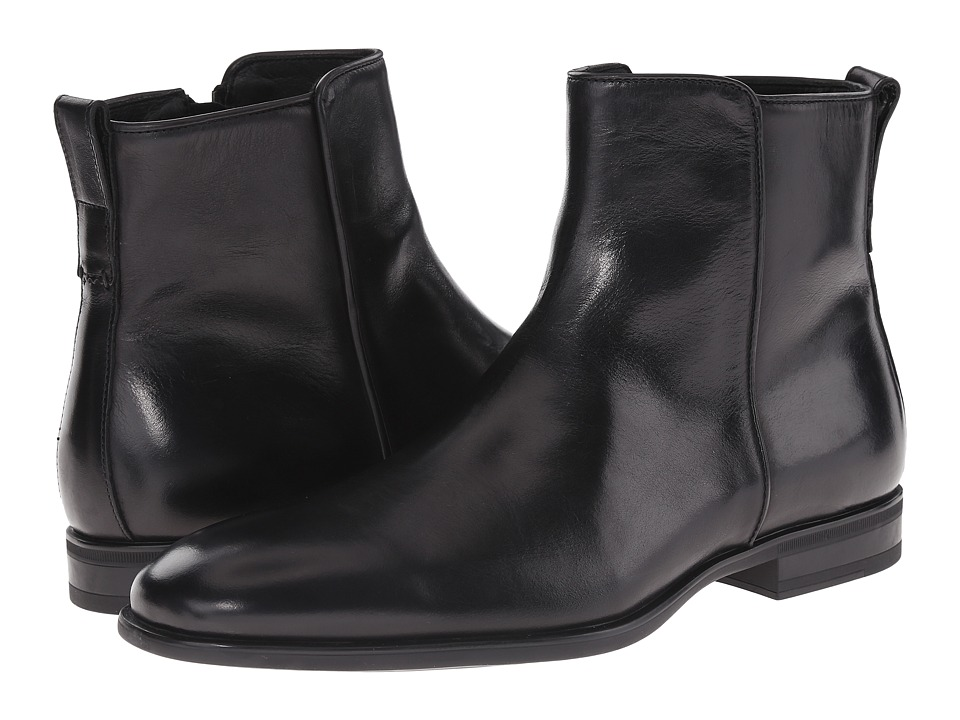 Aquatalia - Alain (Black Dress Calf) Men's Dress Zip Boots