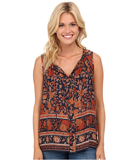 Lucky Brand - Vintage Floral Tank Top (Brown Multi) Women's Sleeveless