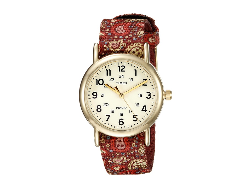 Timex - Weekender Paisley (Pink/Gold Tone/Cream) Watches