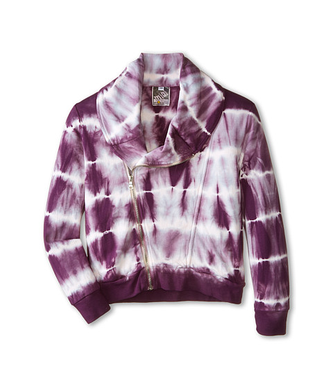 Young Fabulous & Broke Mini - Kayla Jacket Skinny Stripe (Little Kids/Big Kids) (Plum) Girl