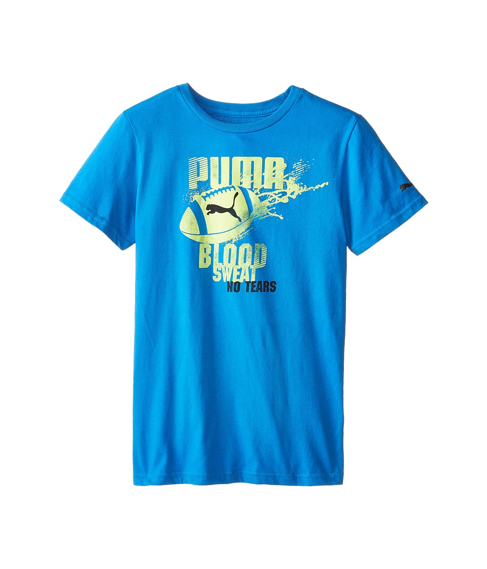 Puma Kids - Football Splat Tee (Big Kids) (Sky Blue) Boy