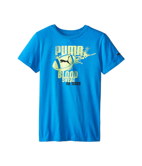 Puma Kids - Football Splat Tee (Big Kids) (Sky Blue) Boy's T Shirt