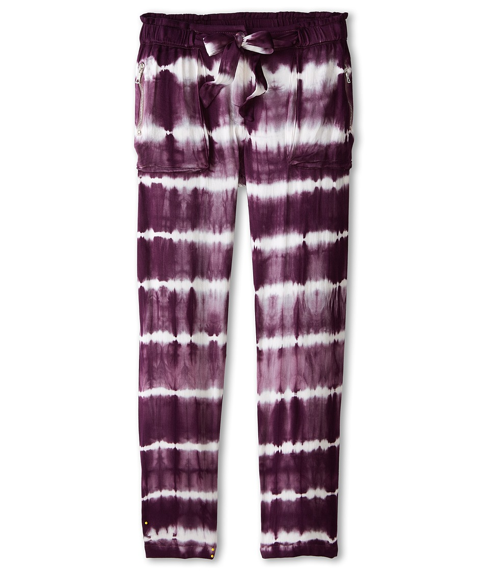 Young Fabulous & Broke Mini - Tessa Pants Skinny Stripe (Little Kids/Big Kids) (Plum) Girl's Casual Pants
