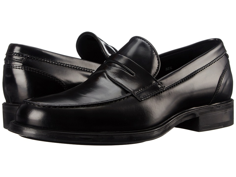 Aquatalia - Neil (Black) Men's Slip-on Dress Shoes
