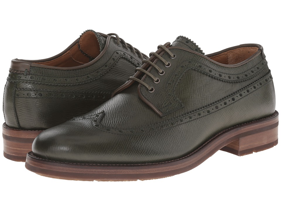 Aquatalia - Oden (Olive) Men's Lace Up Wing Tip Shoes