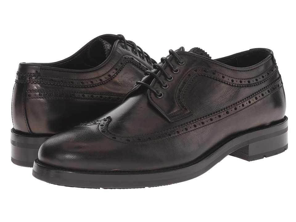 Aquatalia - Oden (Black) Men's Lace Up Wing Tip Shoes
