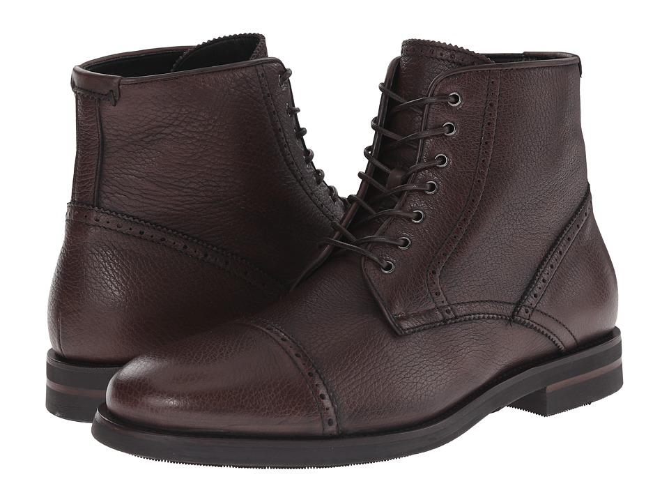 Aquatalia - Carter (Brown Tumbled Pebble Waxy Pull Up) Men's Lace-up Boots