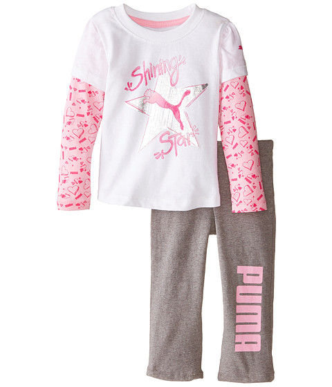Puma Kids - Two-Piece Twofer Pants Set (Infant) (PUMA White) Girl's Active Sets