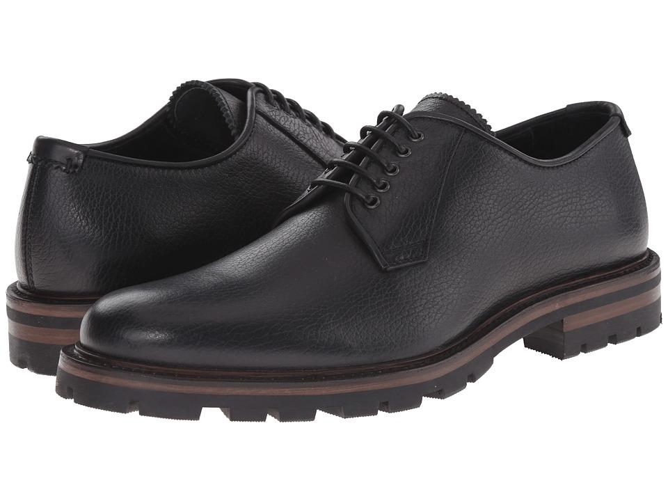 Aquatalia - James (Black Pebbled Nappa) Men's Lace up casual Shoes