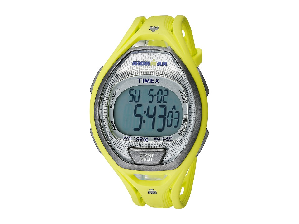 Timex - IRONMAN Sleek 50 Full-Size (Green/Silver Tone) Watches