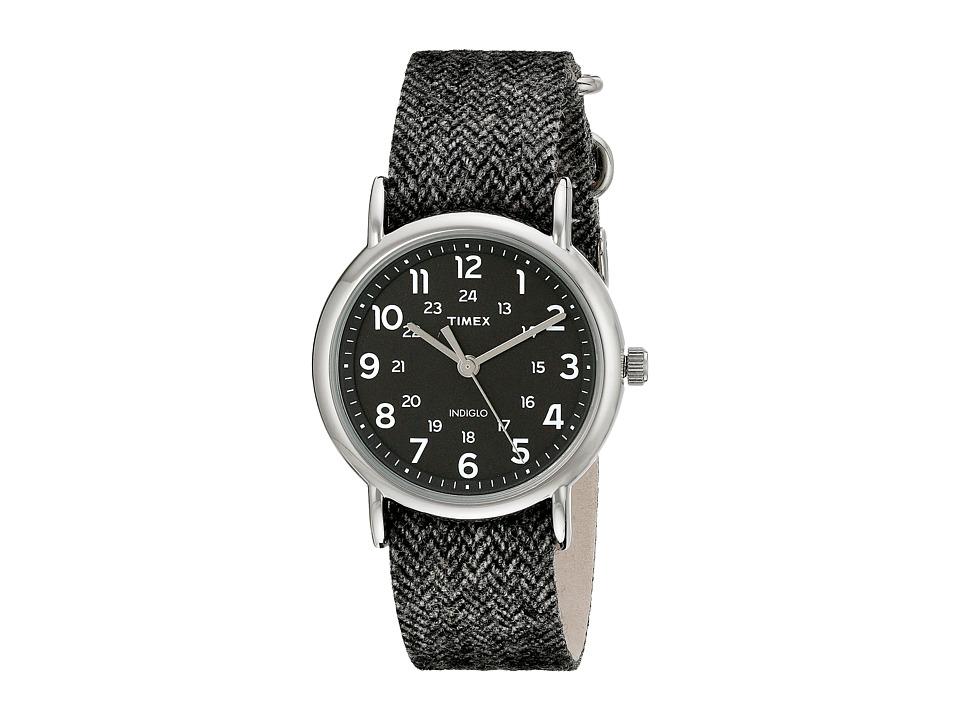 Timex - Weekender Tweed (Black/Silver Tone) Watches