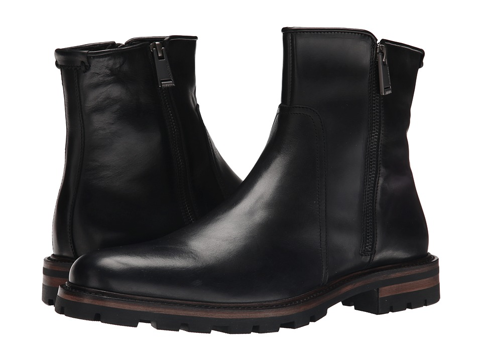 Aquatalia - Jared (Black Waxy Pull Up) Men's Shoes