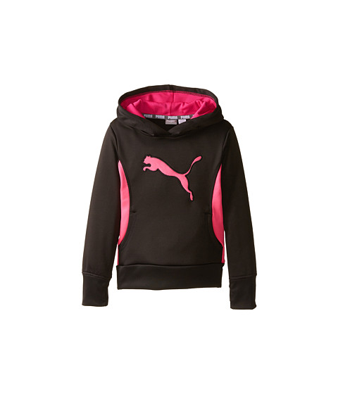 Puma Kids - Cat Hoodie with Thumb Hole (Little Kids) (PUMA Black) Girl