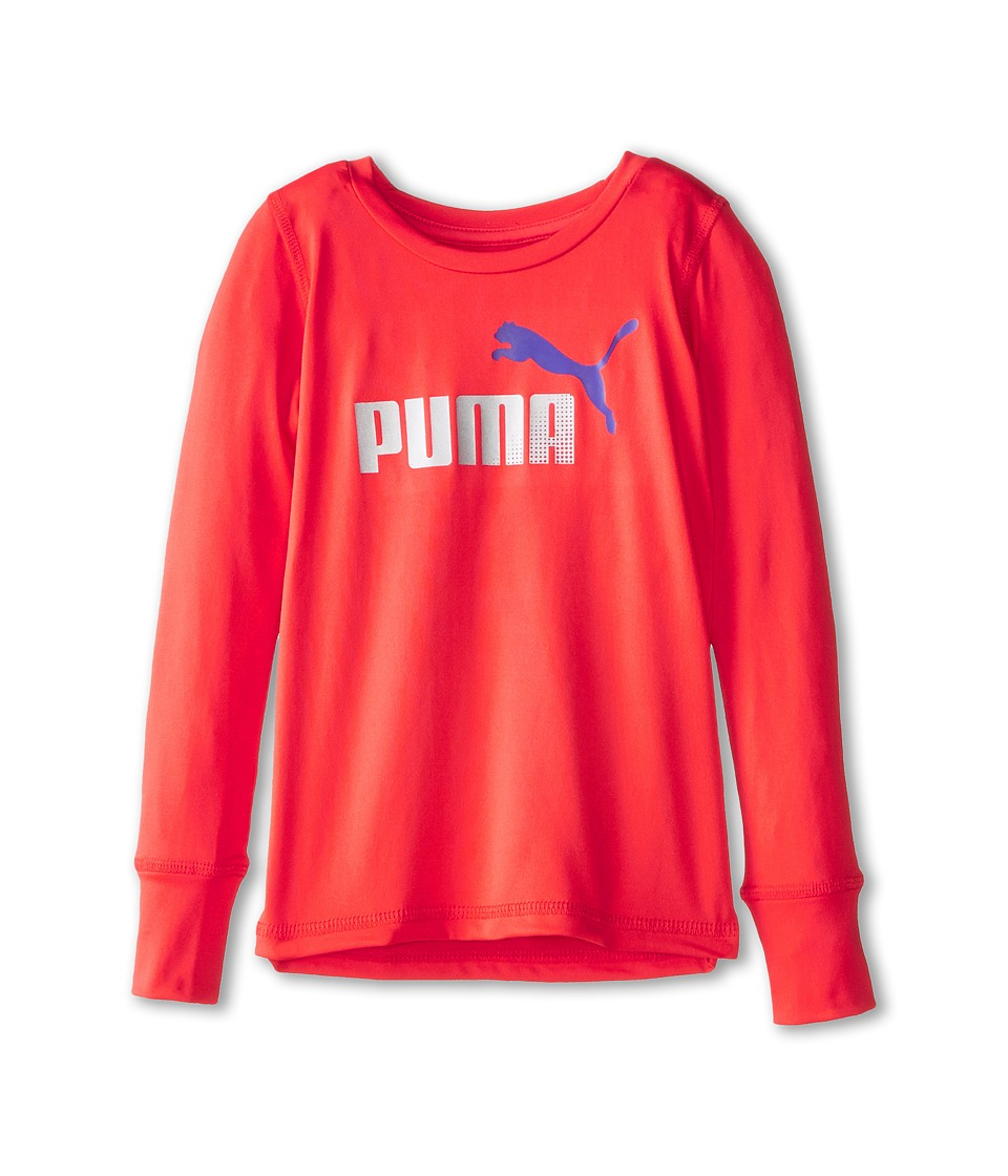 Puma Kids - Forever Faster Long Sleeve Tech Tee (Little Kids) (Hibiscus) Girl