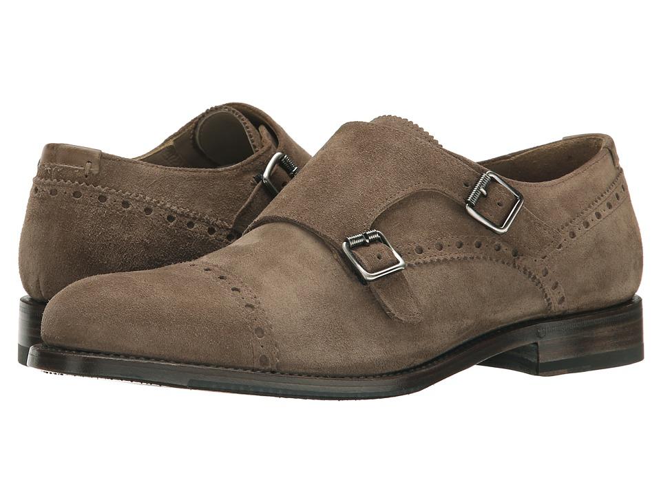 Aquatalia - Fallon (Dark Taupe Dress Suede) Men's Monkstrap Shoes
