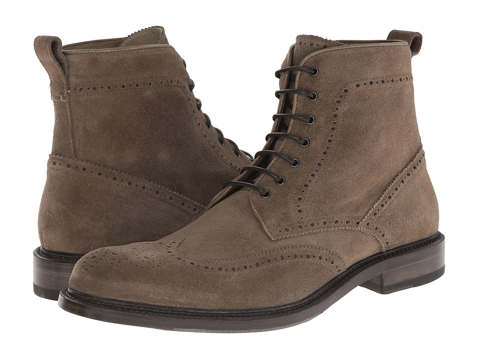 Aquatalia - Forrest (Dark Taupe Dress Suede) Men's Lace-up Boots