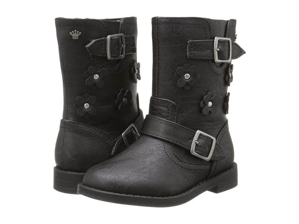 Nina Kids - Palin (Toddler/Little Kid) (Black Wrinkle) Girls Shoes