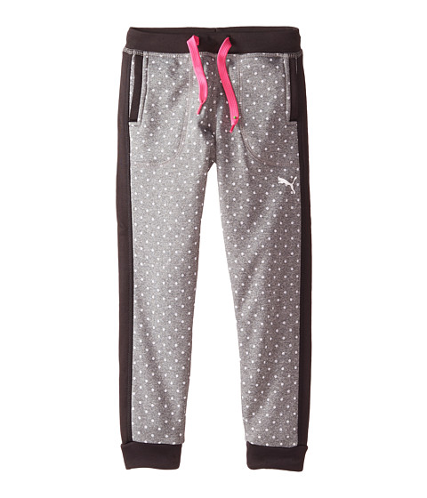 Puma Kids - Polka Dot Dorm Pants (Little Kids) (Medium Grey Heather) Girl