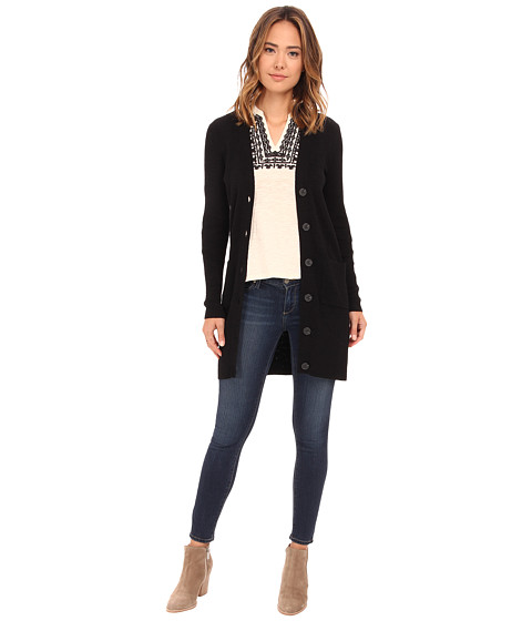 Lucky Brand - Rib Cardigan (Lucky Black) Women's Sweater