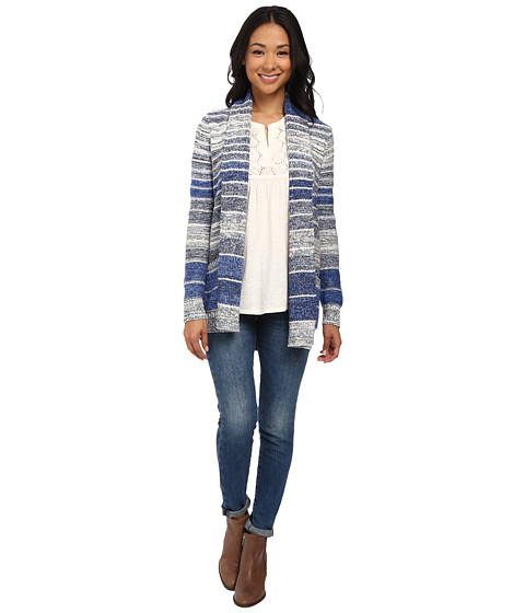 Lucky Brand - Striped Sweater Cardigan (Blue Multi) Women