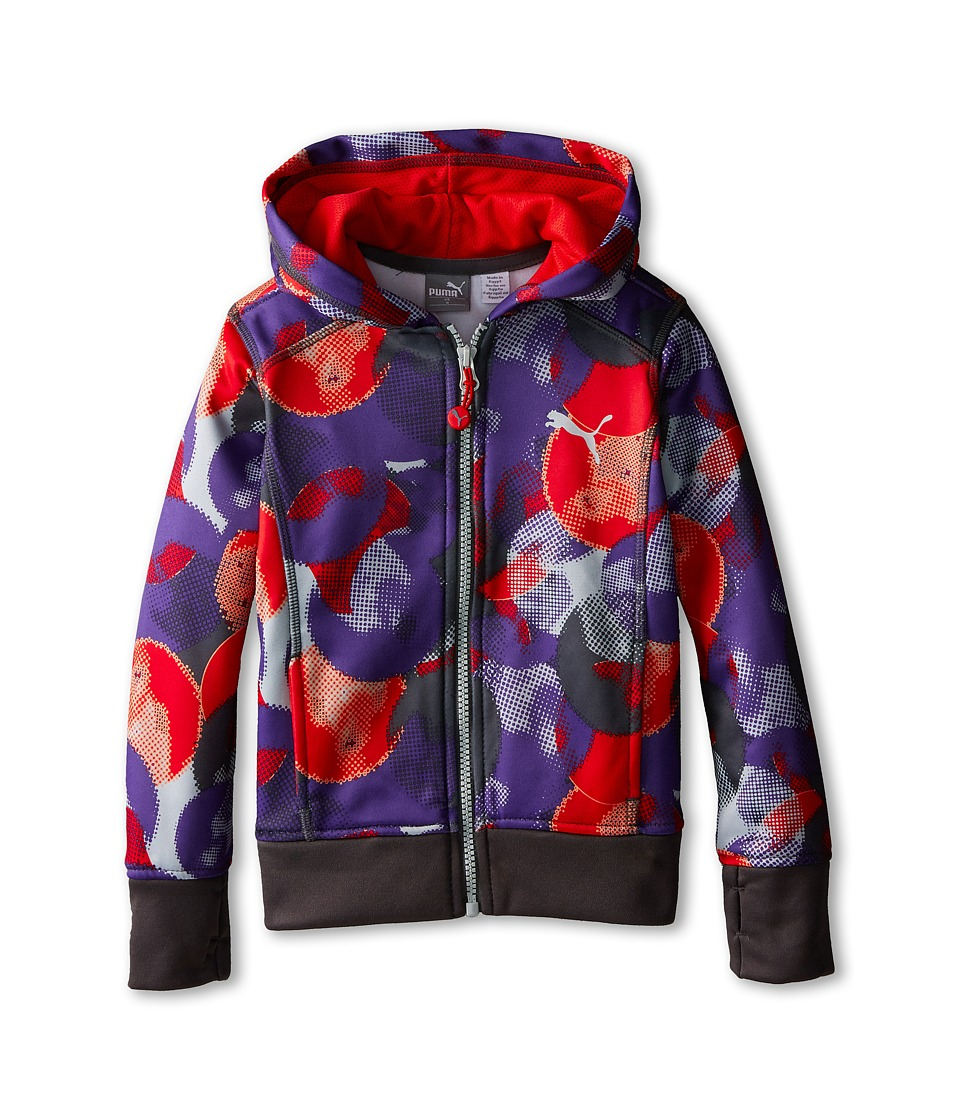 Puma Kids - All Over Print Hoodie (Little Kids) (Electric Purple) Girl