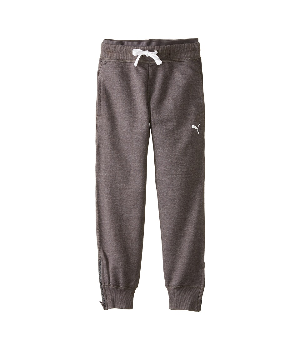 Puma Kids - Zipped Bottom Pants (Little Kids) (Dark Heather Grey) Girl's Casual Pants