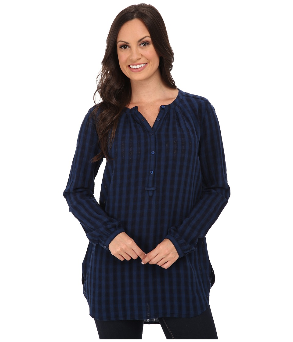 Lucky Brand - Jacquard Tunic (Indigo) Women's Blouse