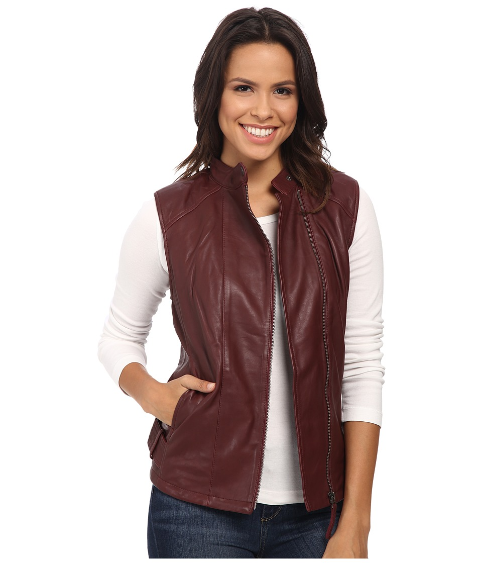 Lucky Brand - Leather Vest (Luxe Burgundy) Women