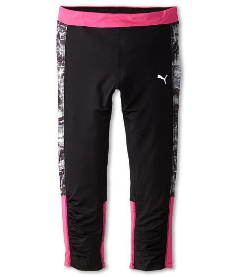 Puma Kids - Lightning Capris (Big Kids) (PUMA Black) Girl's Capri
