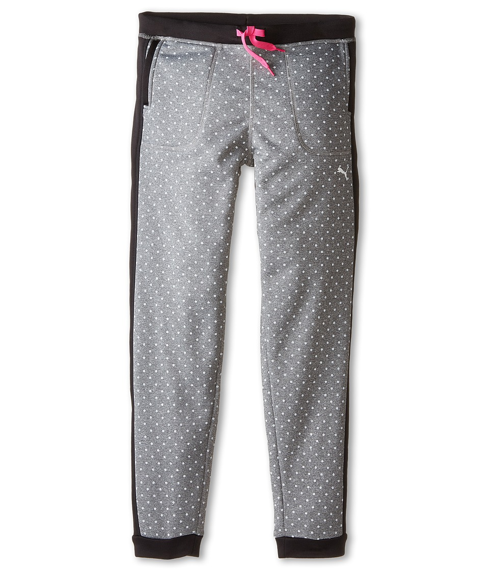 Puma Kids - Polka Dot Dorm Pants (Big Kids) (Medium Grey Heather) Girl's Casual Pants