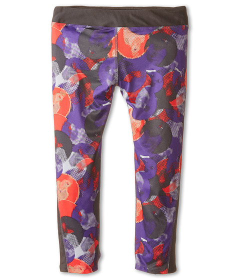 Puma Kids - All Over Print Capri Leggings (Big Kids) (Electric Purple) Girl's Casual Pants