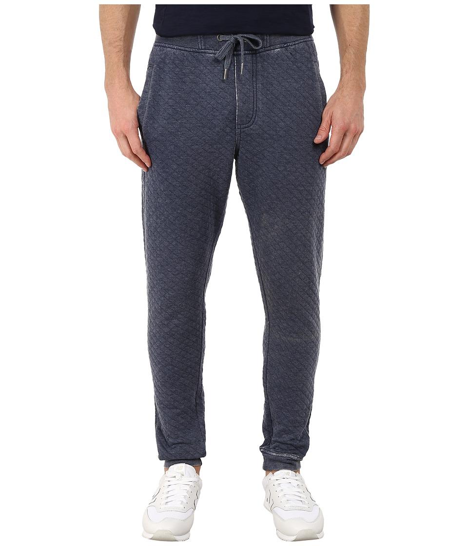 Request - Burnout Quilted Fleece Jogger Pants (Navy) Men's Casual Pants
