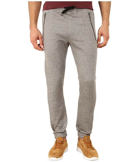 Request - Jogger Pants with Overlock Stitching/Zipper Detail (Medium Grey) Men's Casual Pants