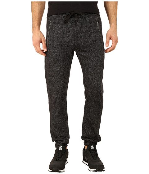 Request - Jogger Pants with Overlock Stitching/Zipper Detail (Black) Men
