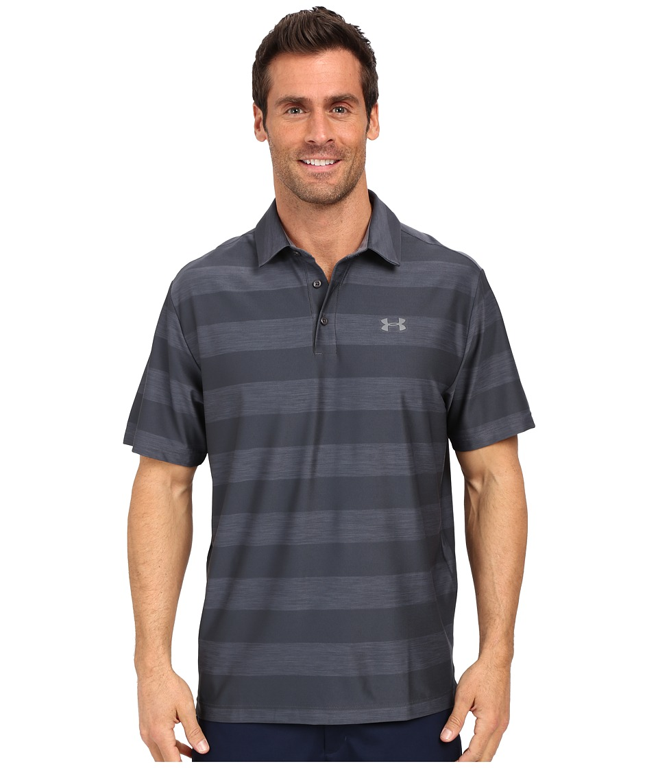 Under Armour - UA Playoff Polo (Stealth Gray/Graphite/Graphite) Men's Short Sleeve Knit