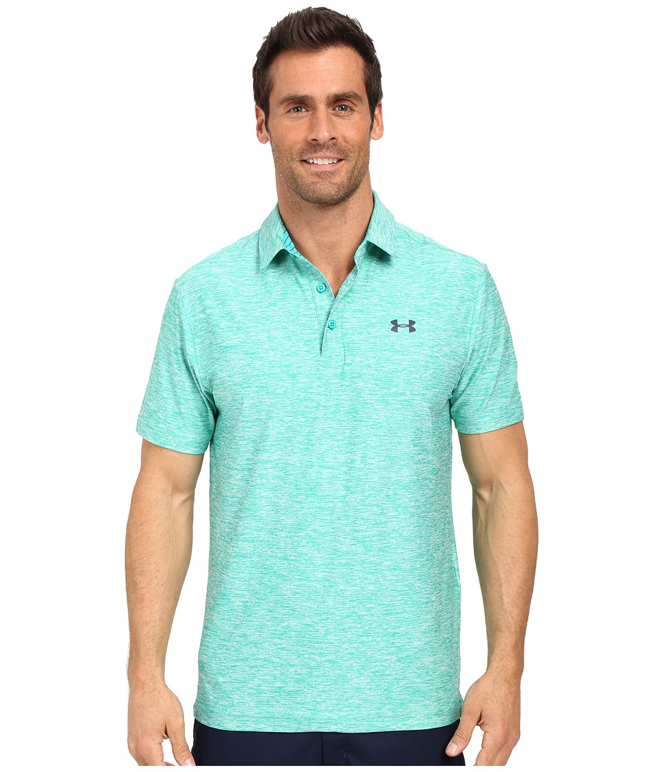 Under Armour Golf - UA Playoff Polo (Green Malachite/Green Malachite/Stealth Gray) Men's Short Sleeve Knit