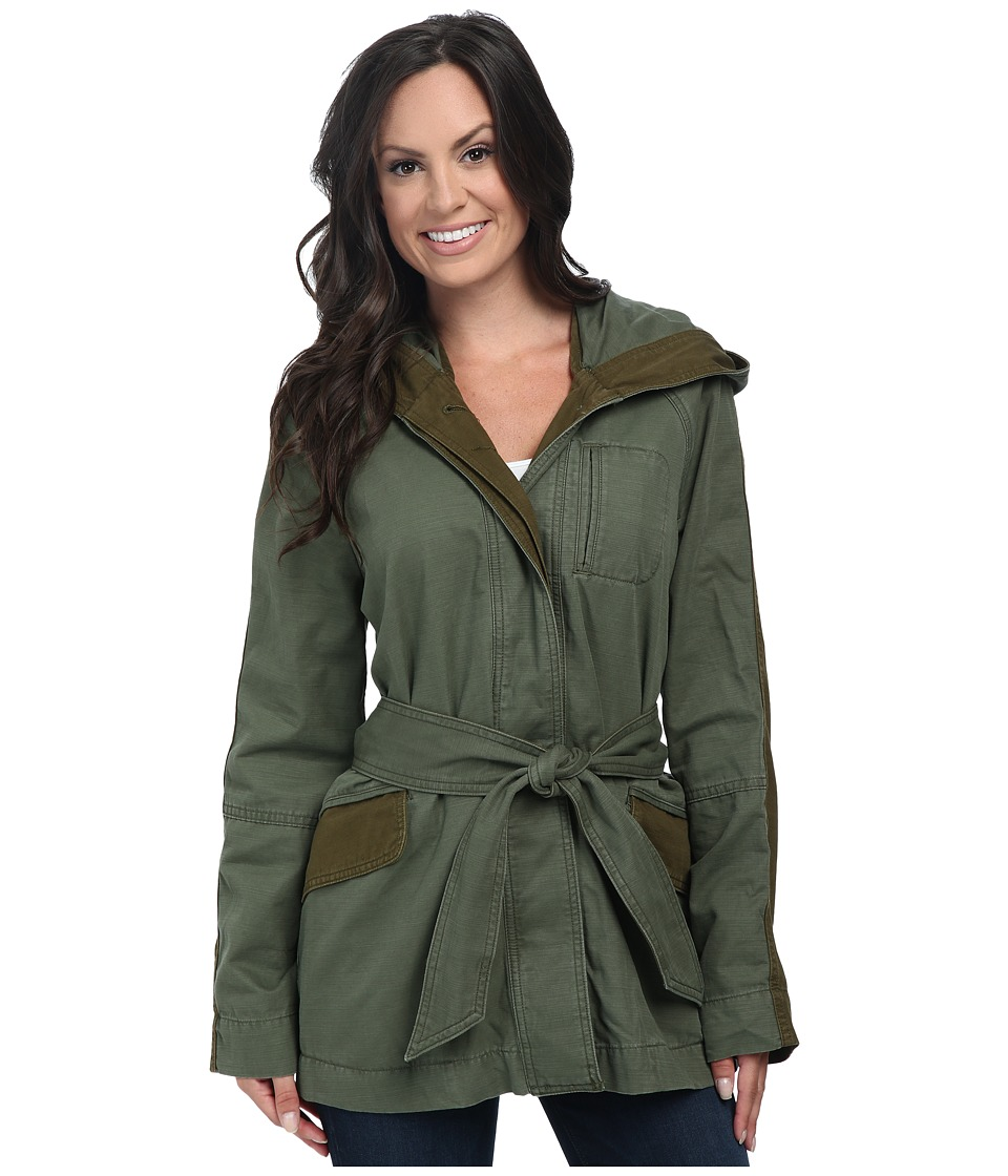 Lucky Brand - Military Trench (Green Multi) Women