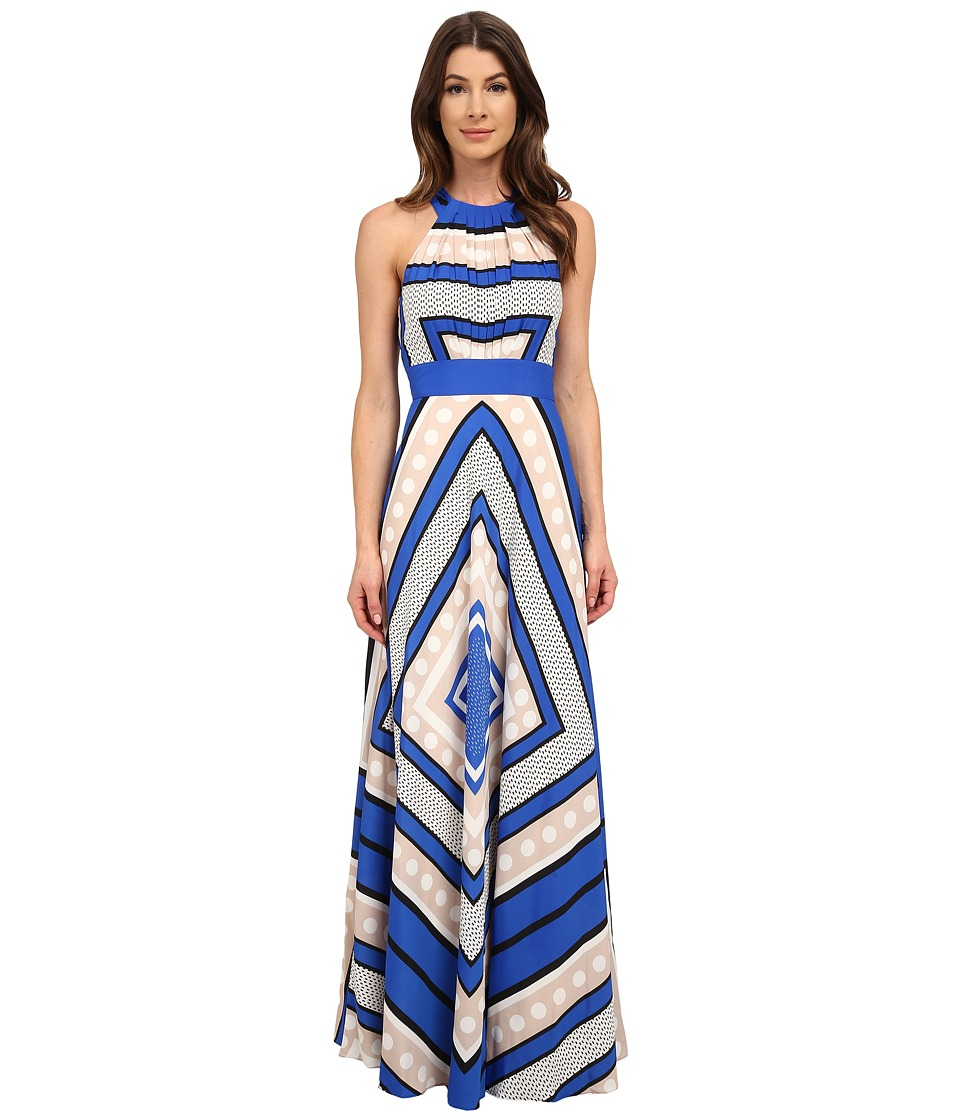 Eliza J - Halter Maxi with Inset Waist (Cobalt) Women's Dress