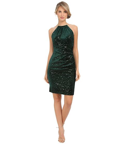 Eliza J - Necklace Halter Dress (Pine) Women