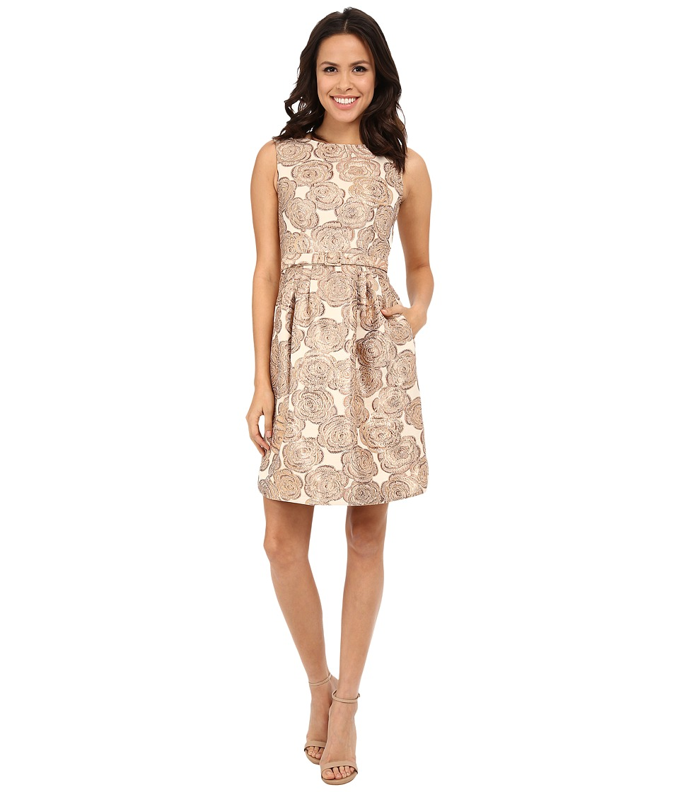 Eliza J - Sleevless A Line Fit and Flare (Gold) Women's Dress