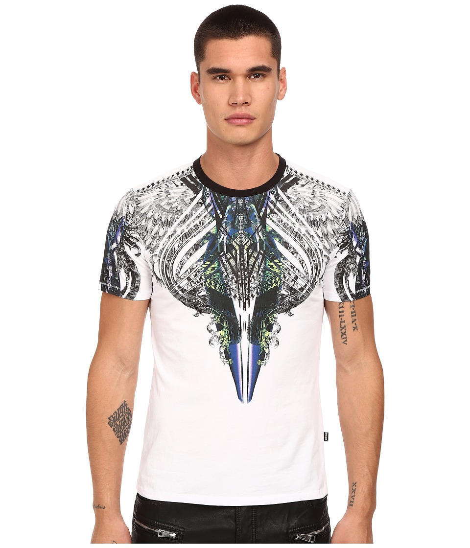 Just Cavalli - Modern Deco Crew Tee (White) Men's T Shirt